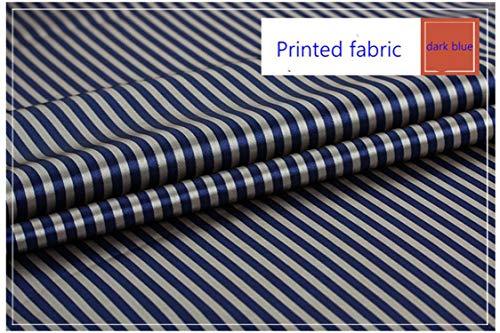 Tissu 1 yard | Tissu en satin de polyester imprimé à rayures pour doubler le textile de maison T114-02-25X150cm (0,25 mètre