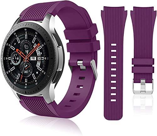 Chainfo Correa de Reloj Recambios Correa Relojes Caucho Compatible con Amazfit GTR 47mm / GTR 2 / Pace/Stratos 3 / Stratos 2S / GTR 2e - Silicona Correa Reloj con Hebilla (22mm, Pattern 8)