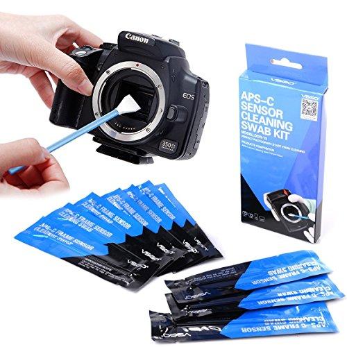 Bastoncillo de Limpieza del Sensor de la cámara Tipo 2 (VSOG DDR15) para Sensor APSC (CCD/CMOS): El Paquete Incluye bastoncillos de Limpieza de 10 x 16 mm.