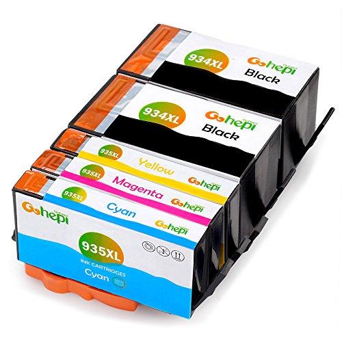 Gohepi Reemplazo para HP 934XL 935XL Cartuchos de tinta Alta Capacidad Compatible con Impresoras HP Officejet Pro 6830 6230 6820 6812 6815 6825 6835 6836 (2 Negro, 1 Cian, 1 Magenta, 1 Amarillo)