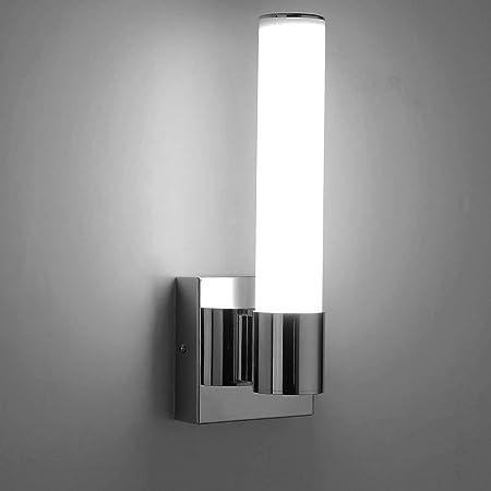 Amazon Com Joosenhouse Led Vaity Lights Vertically 6w Chrome Bathroom Vanity Light Fixtures Wall Tube Lights For Mirror Indoor Home Improvement