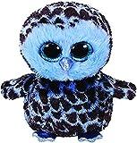 TY- Yago, Eule Blau/Schwarz 24cm Peluche búho, Color azul (United Labels Ibérica 37267TY) , color/modelo surtido