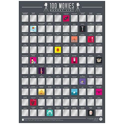 Gift Republic 100 Movies Bucket List Poster