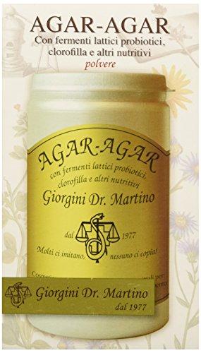 Dr. Giorgini Integratore Alimentare, Agar-Agar con Fermenti Lattici e Clorofilla Polvere - 150 g