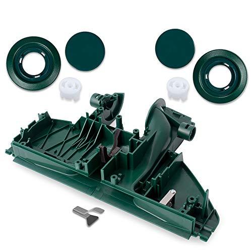 Top Ersatzteil - Bodenplatte passend für Vorwerk Elektrobürste EB 350/351 mit Räder + Felgen - Bestleistung beim Saugen - Hochwertige Qualität