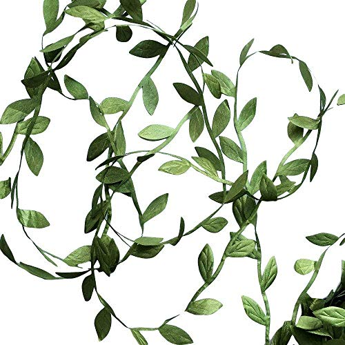 Hecaty 132 ft Olive Green Leaves Leaf Trim Ribbon for Baby Shower DIY Craft Party Wedding Home Decoration