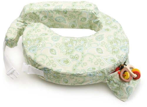 Zenoff Products My Brest Friend Inflatable Travel Nursing Pillow – Maternity Breastfeeding Support, GreenPaisley