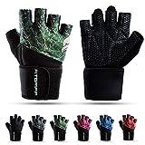 Fitgriff® Fitness Handschuhe V2, Trainingshandschuhe, Sporthandschuhe für Damen und Herren, Krafttraining, Kraftsport, Training, Sport, Gym, Workout Gloves (Green, 5)