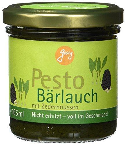 Georg Bio Pesto Bärlauch mit Zedernüssen, vegan, 165 ml