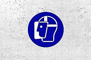 SchabloneGesichtsschutz benutzen zweiteilig, Gebotszeichen M013