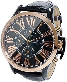 [サルバトーレマーラ] マルチカレンダーウォッチ メンズ 腕時計 クォーツ 革ベルト ブラック 時計クロス付き PGBK