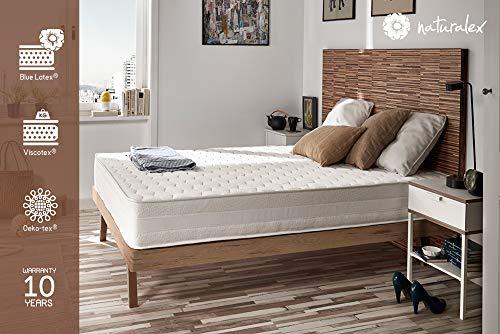 Naturalex | Deluxe | Kaltschaummatratze 140x200 cm | Premium Schlafqualität | Unvergleichlicher Komfort 6 Schichten Schaumstoff | Progressive Ergonomische Anpassung | 7 Komfortzonen | Idealer Halt