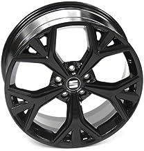 Seat 575071499F041 Aluminio de 19 Pulgadas Tuning 8Jx19H2 ET45 Agujero Circular 5 x 112, llanta de Metal Ligero, Color Negro Brillante