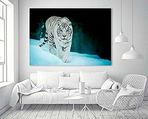 Cuadro PVC Tigre Blanco | Varias Medidas 140x70cm | Fácil colocación