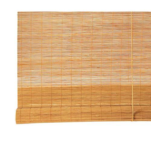 JIAYUAN rolgordijnen bamboe rolgordijnen - lichte jaloezieën, 95% hoge having, jaloezieën voor ramen en deuren trekken, grootte optioneel vouwgordijnen