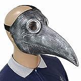 Weehey Vogelschnabel Maske Doctor Raven Maske Latex Riesen Vogelkopf Cosplay Party Kostümzubehör...