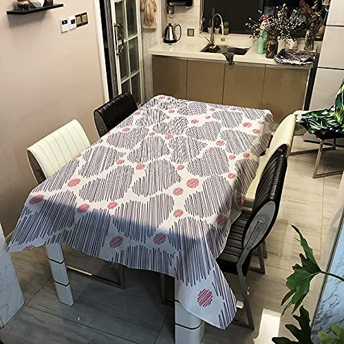 Nappe rectangulaire Simple Maison-Cuisine Salon décoration Table imperméable cheminée A5 150x210cm
