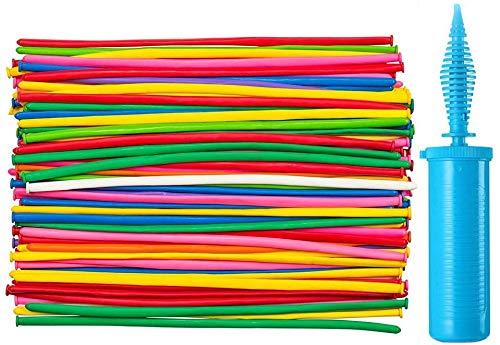 Maylai 100 Stück Luftballons Tier mit Doppelfunktions pumpe Lange Luftballons Premium Verdrehen Luftballons Kit für Party
