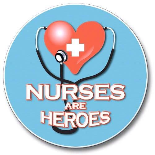 Nurses Are Heroes Stone Auto Car Coaster (1)