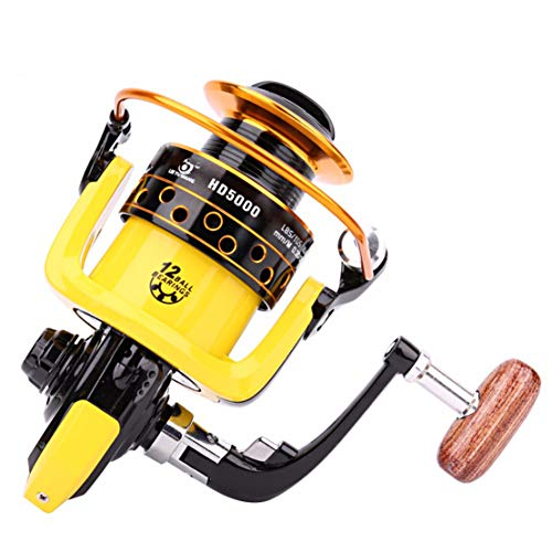 Mulinello da Pesca 12BB 5,2:1 Metal Feeder Fishing Reel Pesca mulinelli Attrezzatura da Pesca,3000model