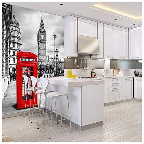 azutura London City Fototapete Schwarz-Weiss Tapete Wohnzimmer Schlafzimmer Dekor Erhältlich in 8 Größen Riesig Digital
