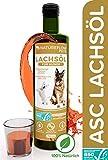 VERGLEICHSSIEGER Lachsöl für Hunde - ASC-Zertifizierte Omega 3 und Omega 6 Fischöl...