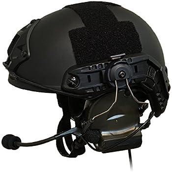 特殊部隊愛用のデザイン ZTAC COMTAC Ⅱ ヘッドセットOPS CORE STANDARDタイプヘルメット ARCアダプター セット (BK) 【日本総代理店正規品】