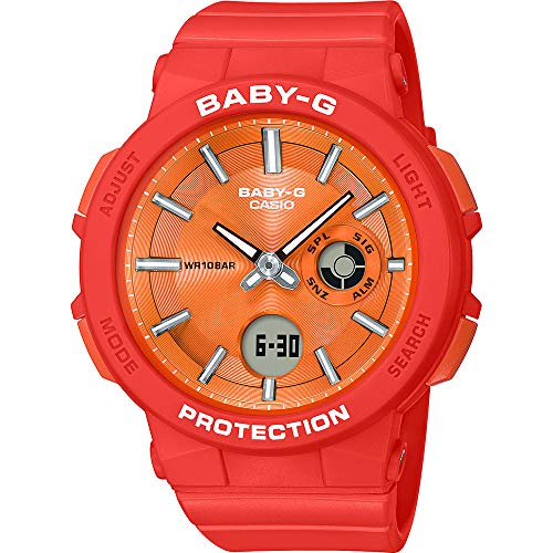 CASIO Damen Analog-Digital Quarz Uhr mit Harz Armband BGA-255-4AER