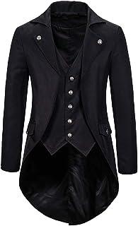 Men Jackets Long Fake Two Clothes Swallowtail Costume Evening Dress Banquet Clothes Slim Fit Fashion Elegant Boutique Gent...