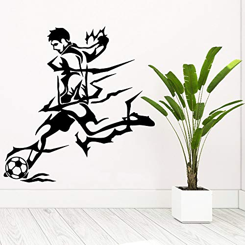 wZUN Belleza fútbol Vinilo Autoadhesivo Papel Pintado niños habitación decoración Impermeable Pared Arte calcomanía 33X33cm