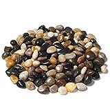 Ruiuzioong - Piedras decorativas, cantos rodados, pulidas, 0,9 kg, piedras de colores surtidos, naturales, pequeñas piedras decorativas de río