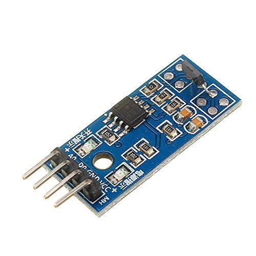 Sensor & Detektor Modul LM393 5V/3.3V Hall Sensing Sonde Hall Switch Sensor Modul Motor Speed Test für Magnetic Detect Auto