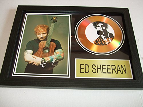 Ed Sheeran signierte Goldscheibe