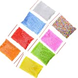 BIYM - 8 Paquetes de 2 – 3 mm de Espuma de poliestireno Bolas Surtidas para Rellenar artesanía, Bricolaje, 8 Colores, pequeñas Perlas de Espuma de poliestireno, Regalo para Bricolaje