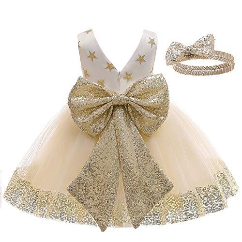 LZH Klänning för blomflickor baby småbarn paljettklänning tutu barn festklänning brudtärna brudklänning