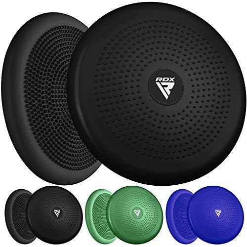 RDX Cojín de Equilibrio Extra Grueso PVC, Yoga Fitness Ejercicio Disco de Equilibrio Hinchable para Fisioterapia Entrenamiento de Rehabilitación Espalda Bomba de Mano