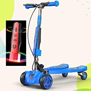 Three Wheels Drifter Scooter,with Adjustable Height, Flashing Wheels, Anti-Slip Deck,Lean to Steer, for Boys and Girls fol...