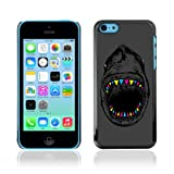 CelebrityCase Polycarbonate Hard Back Case Cover for Apple iPhone 5C ( Neon Shark )