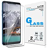 [2-Pack] KATIN For LG Stylo 4, LG Stylus 4, LG Q Stylus Tempered Glass Screen Protector No-Bubble, 9H Hardness, Easy to Install