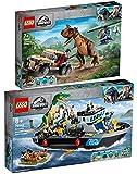 BRICKCOMPLETE Lego 76941 - Juego de 2 persecuciones de Carnotaurus y 76942 huida del Baryonyx