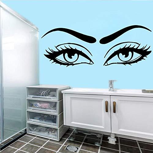 Yaonuli decoratieve stickers, mooie ogen, kunst aan de muur, slaapkamer, woonkamer, decoratie, waterdicht