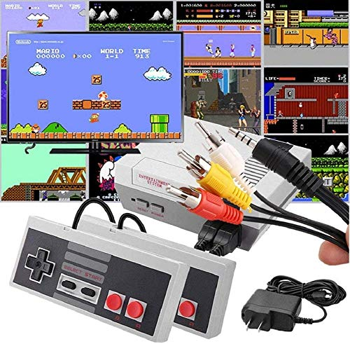 BBGDDR Retro Classic Video Game Console - 620 in 1 Built-in Plug and Play Video Games - Handheld 2 Controllers AV Output Good Gift for Kids & Family