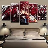 FJNS 5 Piezas de Cuadros en Lienzo HD Black Clover Asta póster de animación decoración de Pared sin Marco,30x40x2+30x60x2+30x80x1