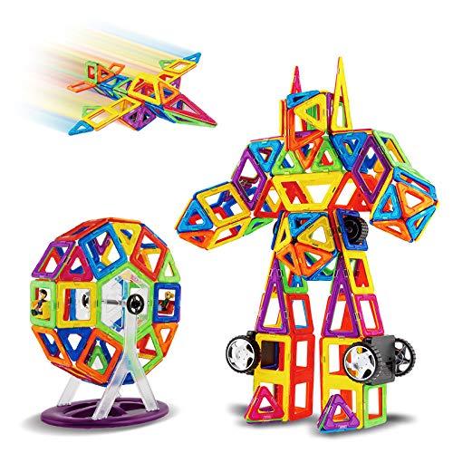 TGRBOP 180PCS Bloques De Construcción Magnéticos Castillo Juguetes Magnéticos Kits De Apilamiento Construcción STEM Desarrollo De Aprendizaje Creatividad Juegos Educativos Para Niños Juguetes Regalo P