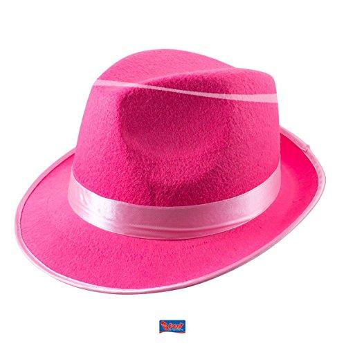 Folat Trilby Hat (Taille Unique, Rose Fluo)