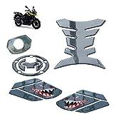 Etiqueta engomada de la decoración del Tanque de la Motocicleta Pegamento Suave Impermeable Autoadhesivo para Adhesivo de protección S-UZUKI DL250 Set de 5 Piezas,03