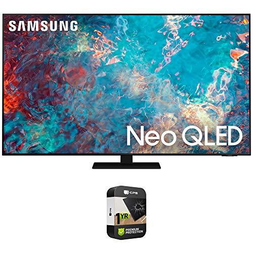 Samsung QN55QN85AA Neo QLED 4K Smart TV (2021) paquete con plan de protección extendida de 1 año de calidad superior