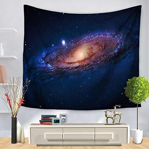 KHKJ Psychedelic Universe Series tapices de Estrellas Tela de Cielo Estrellado Cortinas Decorativas para Colgar en la Pared más tapices de Mesa A7 130x150cm
