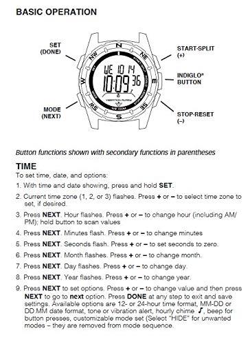 Timex -T49851SU - Expédition - Montre Hommeà Alarme vibratoire pour les adeptes de la nature -...