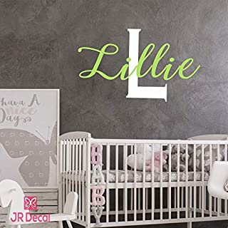 Girls name wall stickers, Custom Name Monogram wall sticker, vinyl Wall decal, personalised baby girls nursery door sticker, Wall Sticker for girls, Nursery name stickers